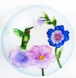 Beautiful Glass Hummingbird Bird Bath - Perfect 19 Inch Size with Unique Floral Design - Perfect Gift for Hummer Lovers! - We Love Hummingbirds - 4