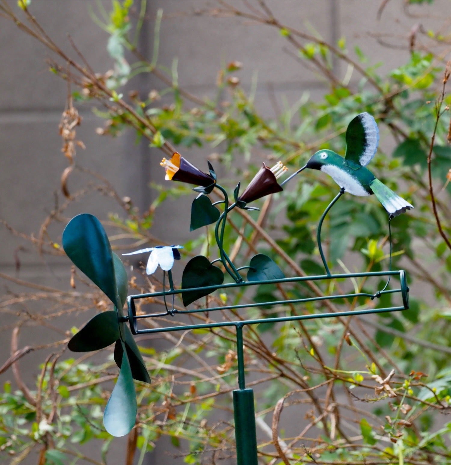 We Love Hummingbirds & Dragonfly Whirligig Spinner