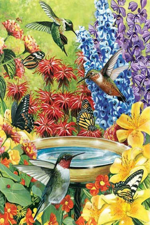 Hummingbird Garden- 500 Piece Puzzle - We Love Hummingbirds