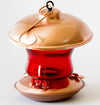 Red Glass & Copper Hummingbird Feeder - We Love Hummingbirds - 2