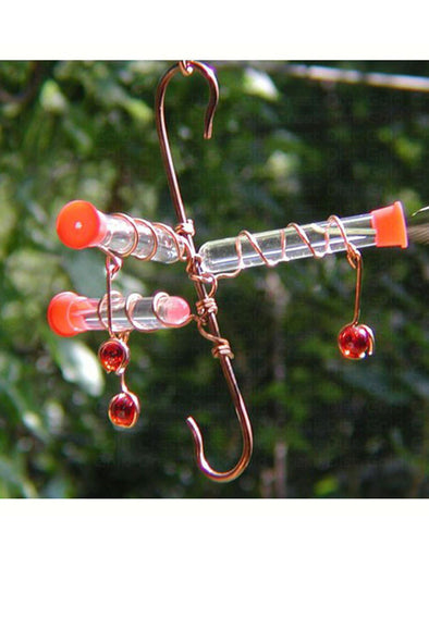 Copper Hummingbird 3 Tube Feeder - We Love Hummingbirds