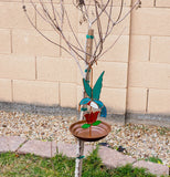 Beautiful Hummingbird Feeder with Stained Glass Hummer Suncatcher