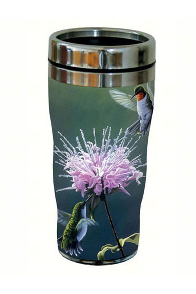 Hummingbird Treat Travel Tumbler - We Love Hummingbirds