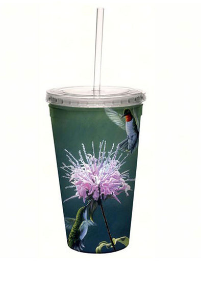 Hummingbird Treat Cool Cup with Straw - 16 oz - We Love Hummingbirds