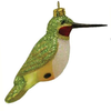 Unique Green Hummingbird Christmas Ornament