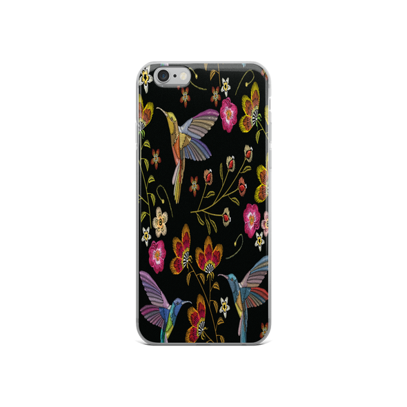 Hummingbird Flower Garden iPhone Case