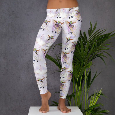 Purple Haze Hummingbird Leggings