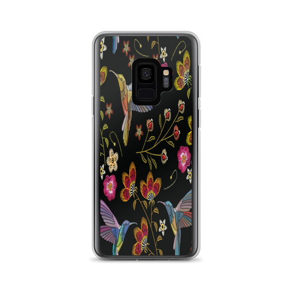 Hummingbird Flower Garden Samsung Galaxy Phone Case
