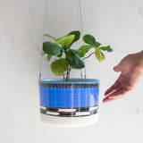 Blue Haze Large Outdoor Hanging Planter - Electric Blue