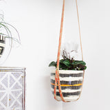 Peachy Spot - Leather plant hanger #LPH009