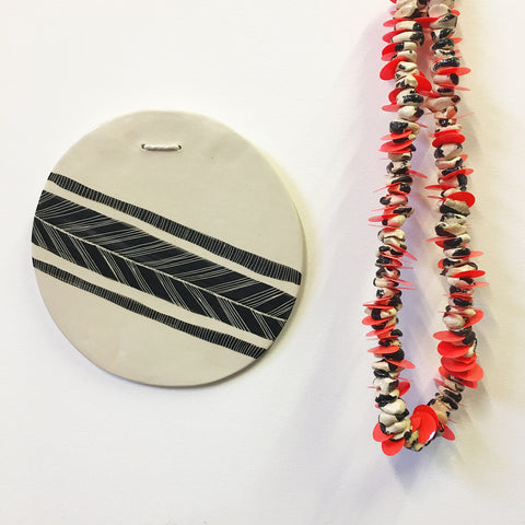 This Way Ceramic Wall Piece // Platter