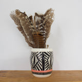 Diamond Eye Organic Vase - Black & Watermelon