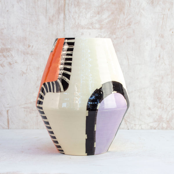 Sunset Pathways - Angled Vase