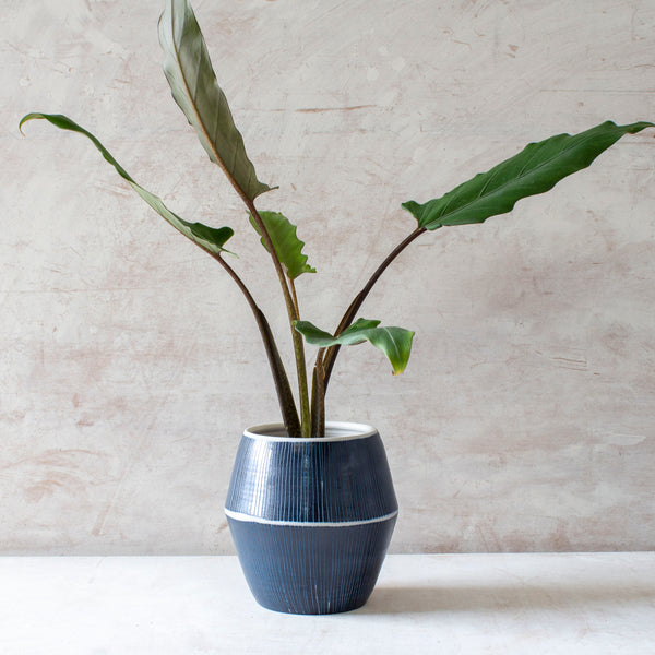Blue Steel - Angular Vessel // Vase