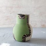 Moss Pathways Bottle Vase - Black, Moss and Forest Green