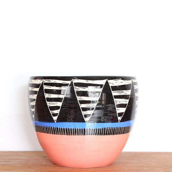 Tri-Burst Orb Vessel - Black, Watermelon & Electric Blue