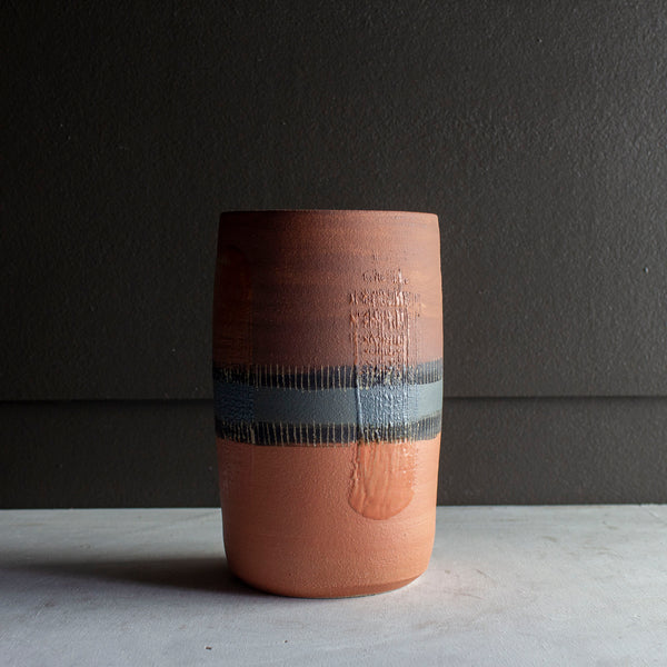 Burnt Earth - Cylindrical Vase