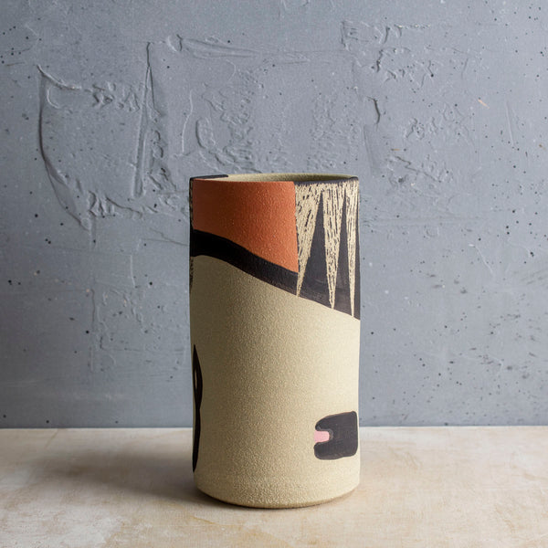 Think Ahead Cylindrical Vase