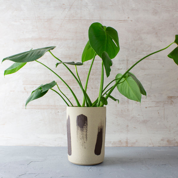 Chocolate Slip Brushstroke - Vase // Planter