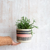 Textured Galah -  Large Hanging Planter