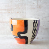 Sunset Pathways Jumbo Bowl - Black, Nasturtium & Lilac