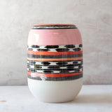 Liquorice All Sorts Vase - Black, Dusty Pink, Nasturtium & Indian Red
