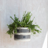 Textured Linear Stripe - Outdoor - Large Hanging Planter
