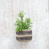 Textured Linear Stripe - Large Hanging Planter