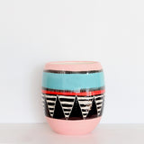 Liquorice All Sorts Vase // Planter - Black, Lagoon, Dusty Pink & Indian Red