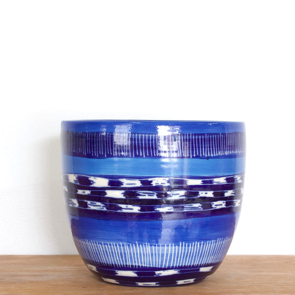 Blue Haze Orb Vessel - Indigo, Electric Blue & Sky Blue