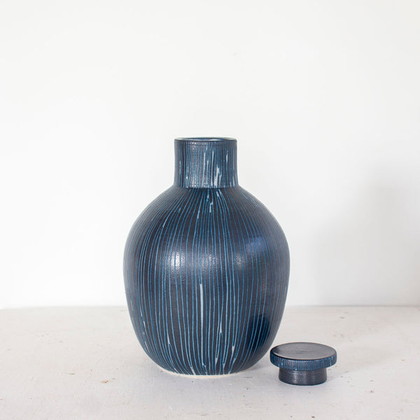 Blue Steel -  Lidded Bottle