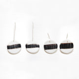 One Stripe Medium Drop Earrings - BW