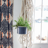 Blue Steel - Outdoor Large Hanging Planter