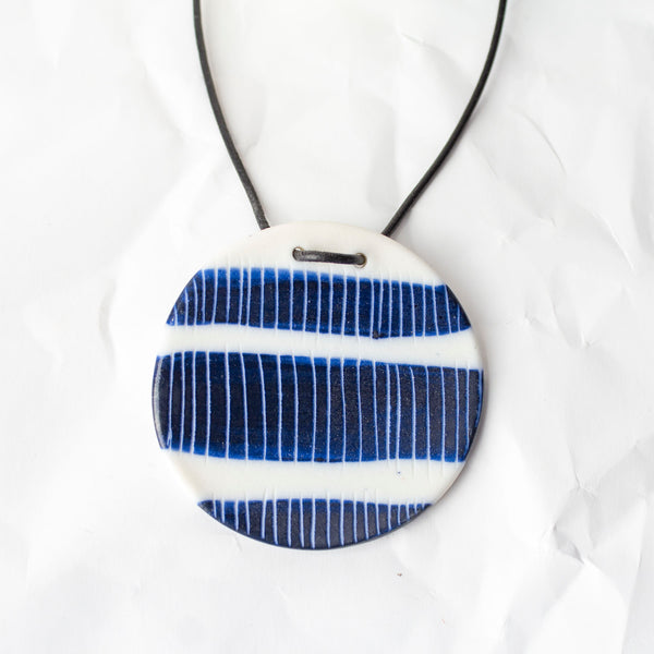 Three Stripes Pendant - Blue Steel