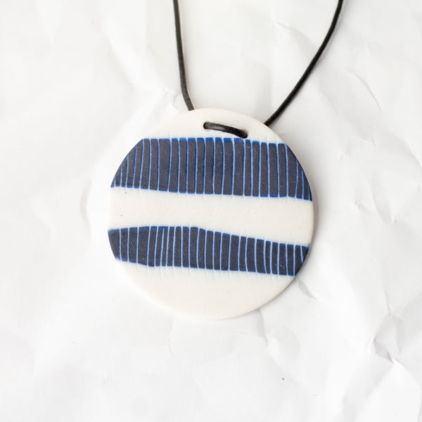 Two Stripes Pendant - Blue Steel