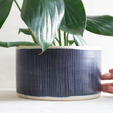 Blue Steel Vessel // Planter