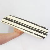 Stripey Road Long Platter - Black