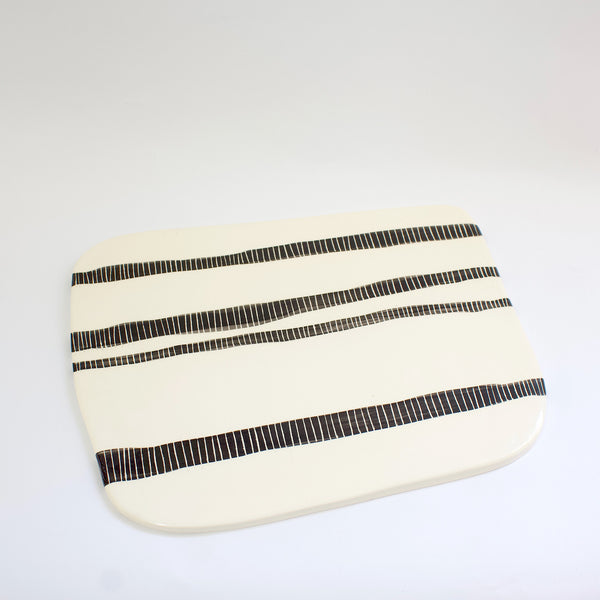 Stripey Road Organic Platter - Black