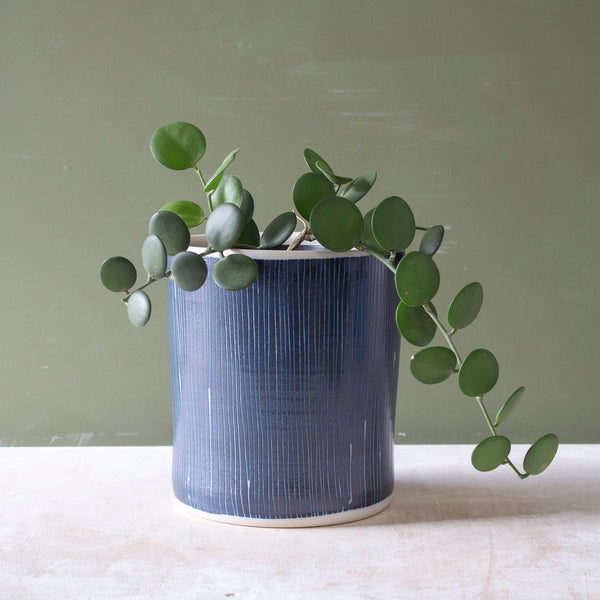 Blue Steel - Tall Planter