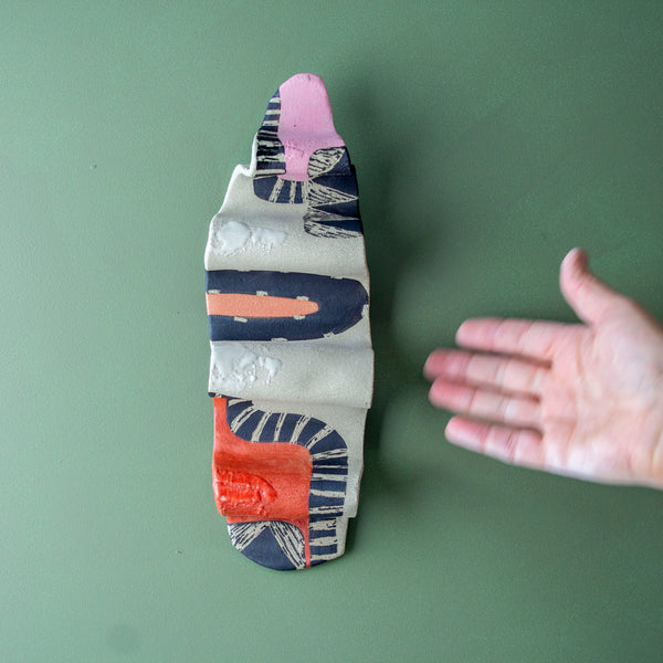 Earth Pathways #2 - Undulating Ceramic Wall Piece