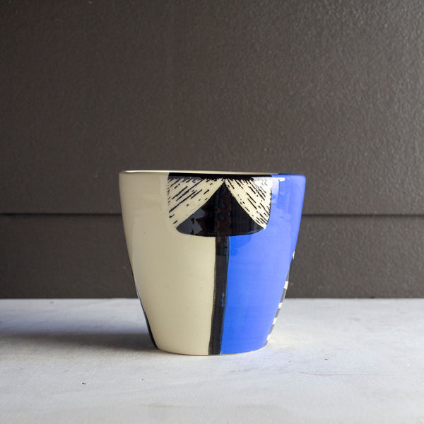 Electric Pathways V Vessel - Black and Electric blue