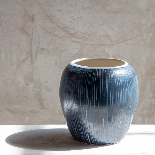Blue Steel - Orb Vessel // Vase