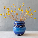 Blue Haze Organic Vase - Indigo, Sky Blue & Electric Blue