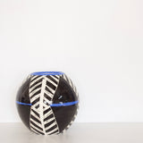 Oblique Orb Vessel - Black & Electric Blue