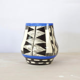 Teeth Manipulated Vase  - Black & Electric Blue