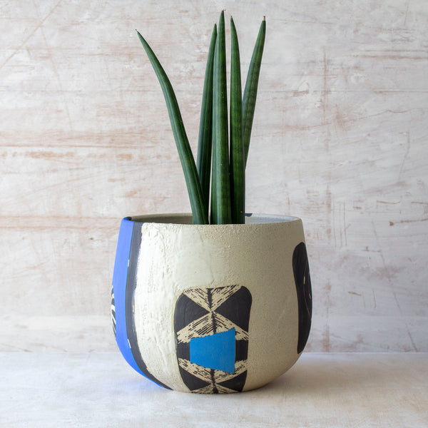 Electric Pathways Vessel - Black, Electric blue and Turquoise