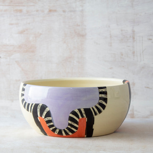Sunset Pathways #2 Vessel - Black, Nasturtium & Lilac
