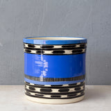 Blue Haze L Jumbo Planter - Black, Electric & Sky Blue