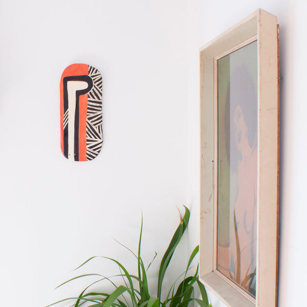 Through the Keyhole - Ceramic Wall Piece