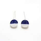 Half Moon Medium Drop Earrings - Indigo